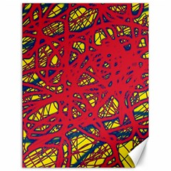 Yellow And Red Neon Design Canvas 12  X 16   by Valentinaart