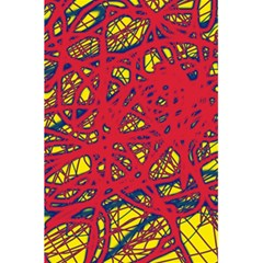 Yellow And Red Neon Design 5 5  X 8 5  Notebooks by Valentinaart