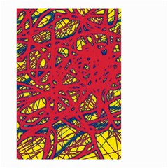 Yellow and red neon design Small Garden Flag (Two Sides)