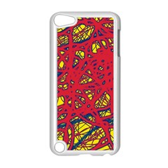 Yellow And Red Neon Design Apple Ipod Touch 5 Case (white) by Valentinaart