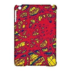 Yellow And Red Neon Design Apple Ipad Mini Hardshell Case (compatible With Smart Cover) by Valentinaart