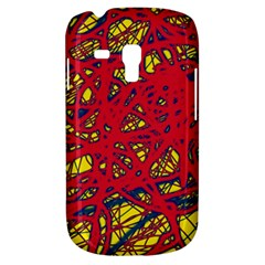 Yellow And Red Neon Design Samsung Galaxy S3 Mini I8190 Hardshell Case by Valentinaart