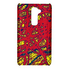 Yellow and red neon design LG G2