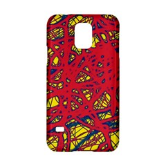 Yellow And Red Neon Design Samsung Galaxy S5 Hardshell Case  by Valentinaart