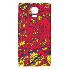Yellow And Red Neon Design Galaxy Note 4 Back Case by Valentinaart