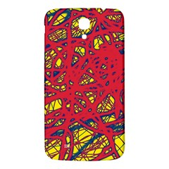 Yellow And Red Neon Design Samsung Galaxy Mega I9200 Hardshell Back Case by Valentinaart