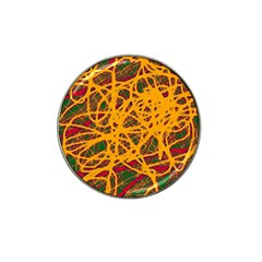 Yellow Neon Chaos Hat Clip Ball Marker by Valentinaart