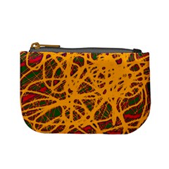 Yellow Neon Chaos Mini Coin Purses by Valentinaart