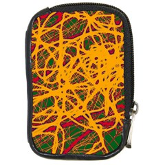 Yellow Neon Chaos Compact Camera Cases by Valentinaart