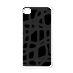 Gray Apple Iphone 4 Case (white) by Valentinaart