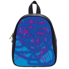 Deep Blue School Bags (small)  by Valentinaart
