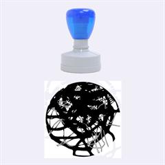 Deep Blue Rubber Round Stamps (medium) by Valentinaart