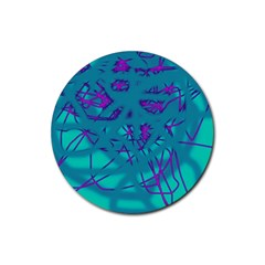 Chaos Rubber Round Coaster (4 Pack)  by Valentinaart
