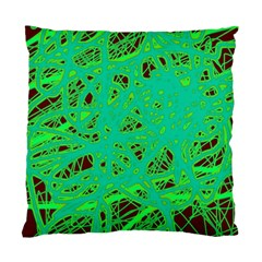 Green Neon Standard Cushion Case (two Sides) by Valentinaart
