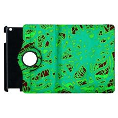 Green Neon Apple Ipad 3/4 Flip 360 Case by Valentinaart