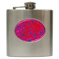 Red Neon Hip Flask (6 Oz) by Valentinaart