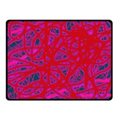 Red Neon Fleece Blanket (small) by Valentinaart