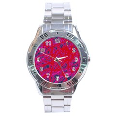 Red neon Stainless Steel Analogue Watch