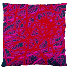 Red Neon Standard Flano Cushion Case (two Sides) by Valentinaart