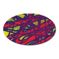 Abstract High Art Oval Magnet by Valentinaart