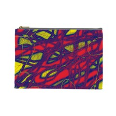 Abstract High Art Cosmetic Bag (large)  by Valentinaart