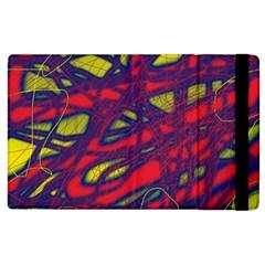 Abstract High Art Apple Ipad 3/4 Flip Case by Valentinaart