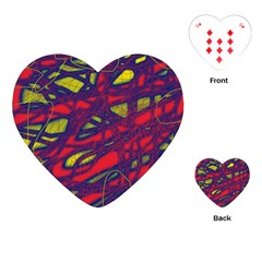 Abstract High Art Playing Cards (heart)  by Valentinaart
