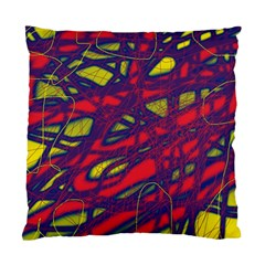 Abstract High Art Standard Cushion Case (one Side) by Valentinaart