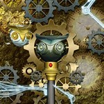 Steampunk, Awesome Owls With Clocks And Gears Congrats Graduate 3D Greeting Card (8x4) Inside