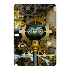 Steampunk, Awesome Owls With Clocks And Gears Samsung Galaxy Tab Pro 12.2 Hardshell Case by FantasyWorld7