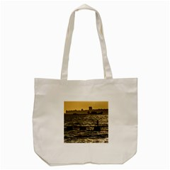 River Plater River Scene At Montevideo Tote Bag (cream) by dflcprints