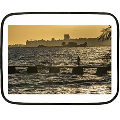 River Plater River Scene At Montevideo Double Sided Fleece Blanket (mini)  by dflcprints