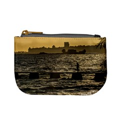 River Plater River Scene At Montevideo Mini Coin Purses by dflcprints
