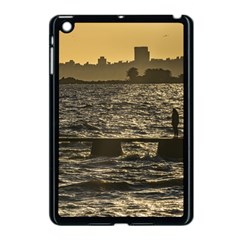 River Plater River Scene At Montevideo Apple Ipad Mini Case (black) by dflcprints
