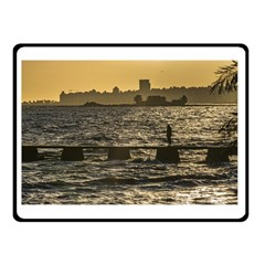 River Plater River Scene At Montevideo Double Sided Fleece Blanket (small)  by dflcprints