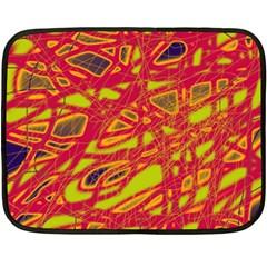 Orange Neon Fleece Blanket (mini) by Valentinaart