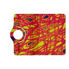 Orange neon Kindle Fire HD (2013) Flip 360 Case by Valentinaart