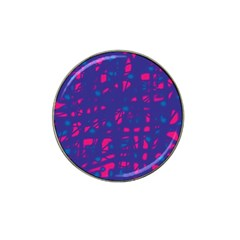 Blue And Pink Neon Hat Clip Ball Marker (10 Pack) by Valentinaart