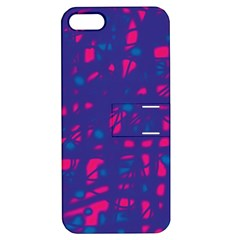 Blue And Pink Neon Apple Iphone 5 Hardshell Case With Stand by Valentinaart