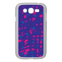 Blue And Pink Neon Samsung Galaxy Grand Duos I9082 Case (white) by Valentinaart