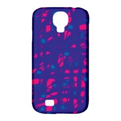 Blue And Pink Neon Samsung Galaxy S4 Classic Hardshell Case (pc+silicone) by Valentinaart