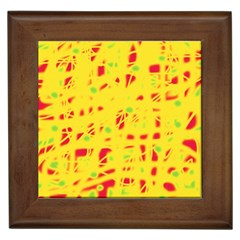 Yellow and red Framed Tiles by Valentinaart
