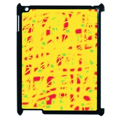 Yellow And Red Apple Ipad 2 Case (black) by Valentinaart