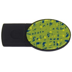 Green And Blue Usb Flash Drive Oval (2 Gb)  by Valentinaart