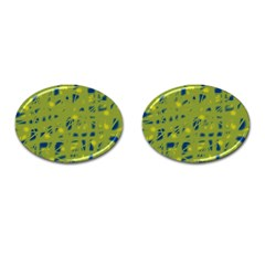 Green And Blue Cufflinks (oval) by Valentinaart