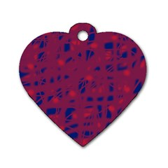 Decor Dog Tag Heart (one Side) by Valentinaart
