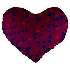 Decor Large 19  Premium Flano Heart Shape Cushions by Valentinaart
