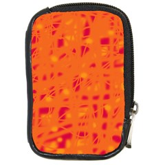 Orange Compact Camera Cases by Valentinaart