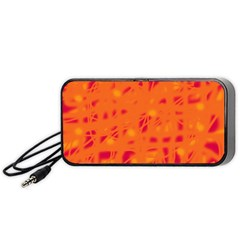 Orange Portable Speaker (black)  by Valentinaart