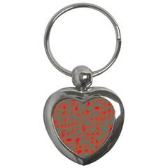 Red And Brown Key Chains (heart)  by Valentinaart